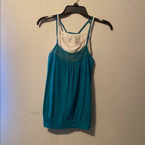Tops - Tank top with built in cami